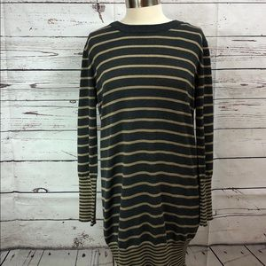 Jessica Howard Brown Tan Stripe Sweater Dress